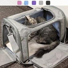 Sac de Transport pour chien sac à dos pour chien latéral souple chat transporteurs pour animaux de compagnie sacs de voyage pour chien Transport approuvé par la compagnie aérienne pour les petits chiens chats
