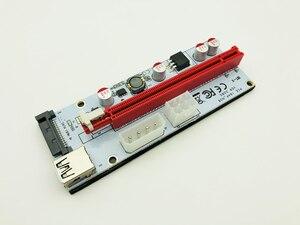 6pcs/lot PCI-E PCI E 1x to 16x Mining Machine Enhanced Extender 008C Riser Card Adapter 60cm Power Cable for Bitcoin BTC Miner