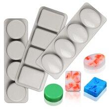 Многоразовый силикон форма для мыла ручной работы DIY изготовление мыла овальное круглое квадратное мыло формы