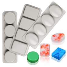 Soap-Mold Round Silicone Craft Square Oval Handmade for DIY Reusable