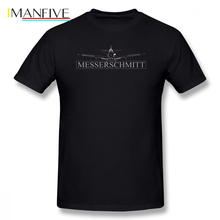 Luftwaffe T Shirt Messerschmitt BF 109 Fighter T-Shirt Short-Sleeve Classic Tee Shirt Oversize Graphic 100 Cotton Fun Men Tshirt hangar 9 messerschmitt bf 109f 2 60