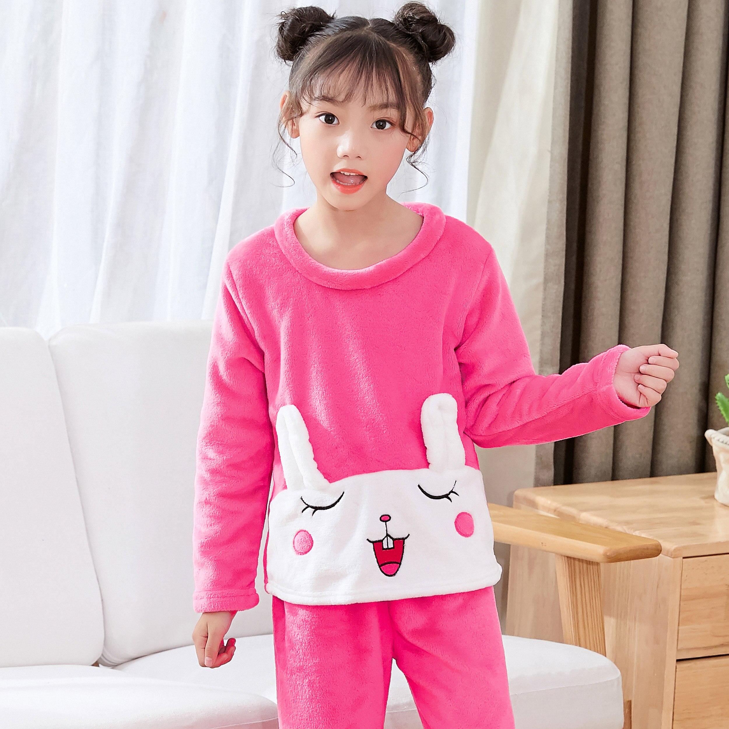 Новинка года; зимняя детская флисовая Пижама; теплая фланелевая одежда для сна; домашняя одежда для девочек из кораллового флиса; детская пижама; домашняя одежда; Пижама для мальчиков - Цвет: model 10