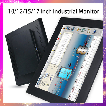 10 15 17 12 Inch Display LCD Screen Monitor of Tablet VGA Not Touch Screen Embedded installation