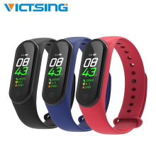 M4 Smart Bracelet Fitness Wristband Color Touch Screen Heart Rate Monitor Waterproof Band PK Mi 3 4