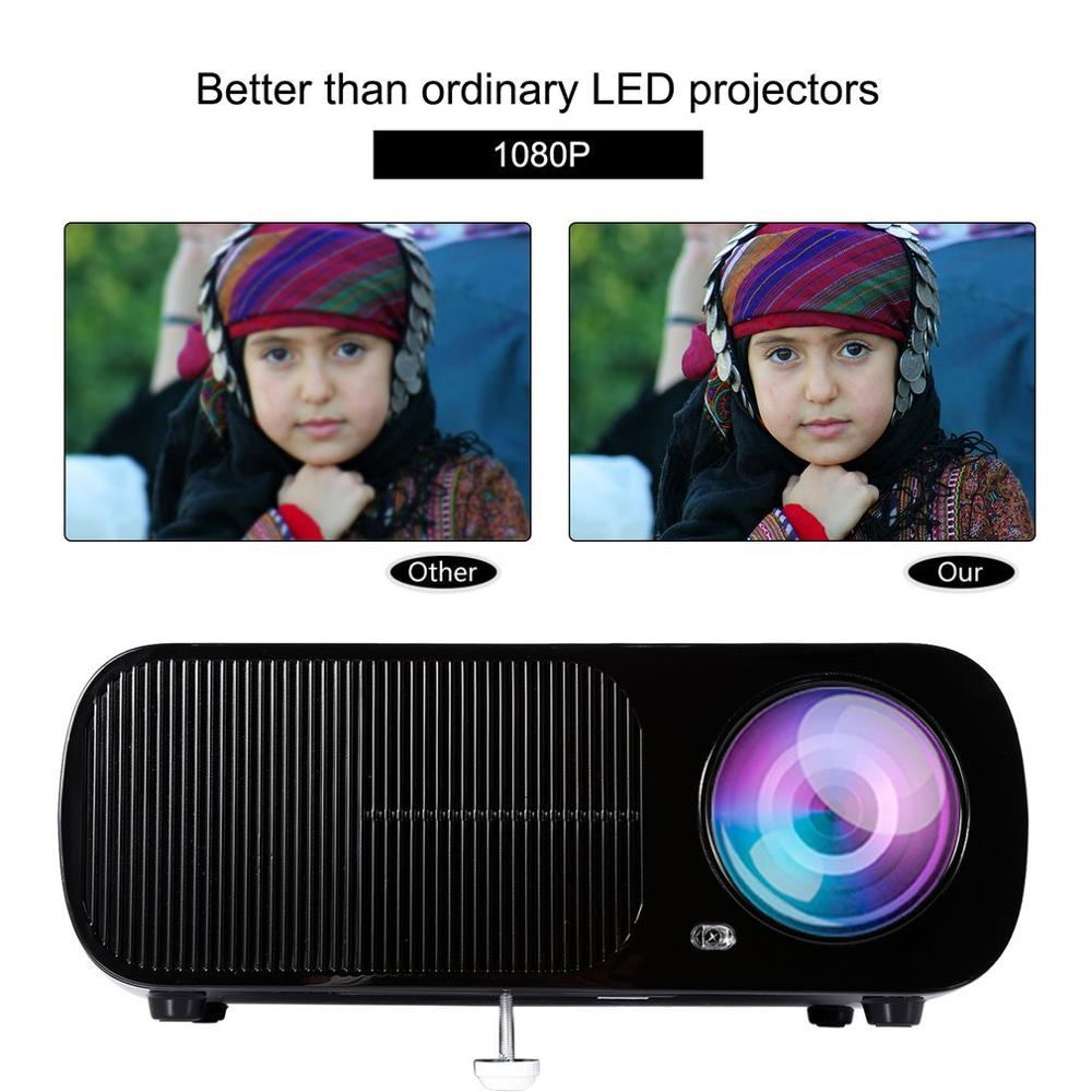 White Black LED Video Projector 2600 Lumens 800 480 Resolution Office 1080P HD Home Cinema Theater Projector for PC Laptop in Home Theatre System from Consumer Electronics