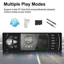 1 DIN araba radyo tek DIN Autoradio In Dash kafa ünitesi Mp5 Mp3 4.1 inç ekran Bluetooth USB TF AUX FM desteği dikiz