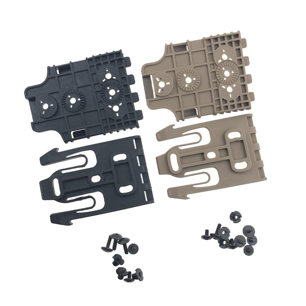 Safa Style Quick Locking System Kit With QLS 19 And QLS 22 Polymer Black Gun Holster Accessories For Colt 1911/HK USP/M9