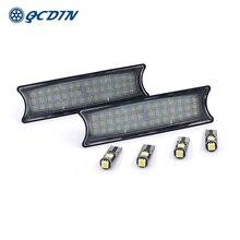 2PCS Car LED Interior Reading Light Ceiling Light For BMW E46 E53/X5 00-06 Car Styling