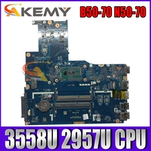 Akemy ZIWB2/ZIWB3/ZIWE1 LA-B092P материнская плата для ноутбука Lenovo B50-70 N50-70 Материнская плата ноутбука процессор 3558U 2957U DDR3 100% тесты работы