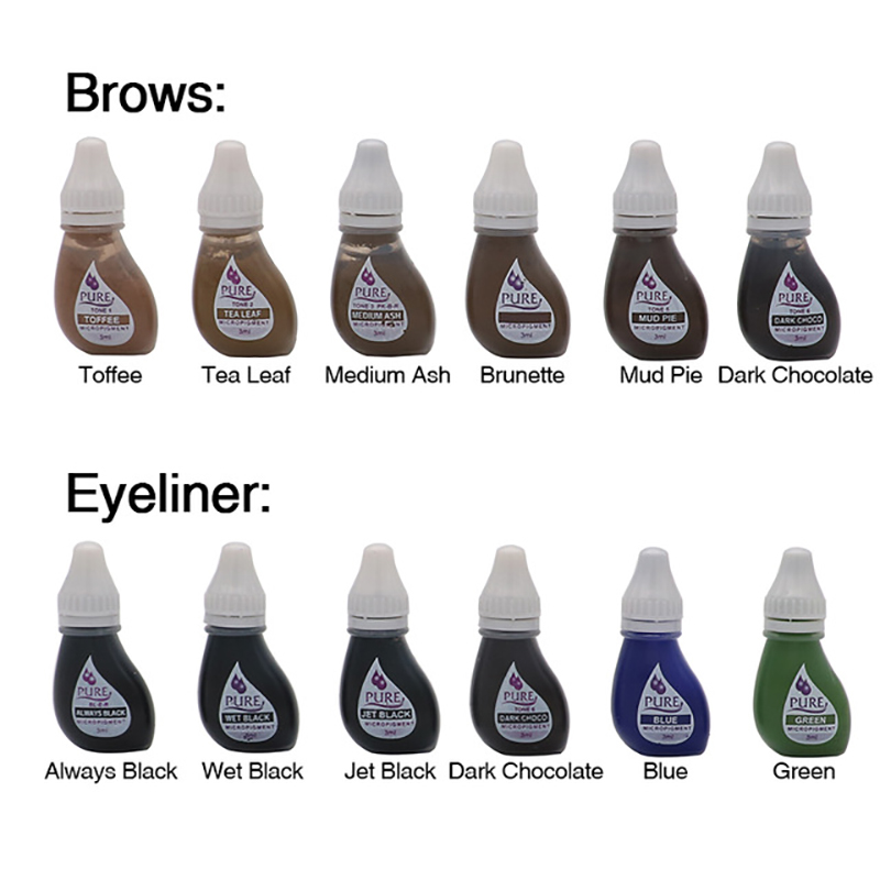 Tattoo Pigment Original USA Microblading Pigment Get Pure Confidence Micropigment Permanent Makeup Tattoo Inks For Eyebrow Lip