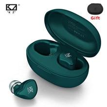 Kz s1 s1d tws verdadeiro sem fio bluetooth 5.0 fones de ouvido dinâmico/híbrido controle toque com cancelamento ruído esporte
