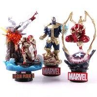Marvel Avengers Original Spider Man 014 Thanos 015 Iron Spider man Spiderman Iron Man Action Figure Collectible Model Toy Gift