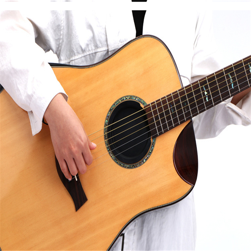2 Sizes Of Silicone Classic Guitar Buster Sound Hole Cover Noise Reduction Buffer Guitara Block Sound Buffer Plug