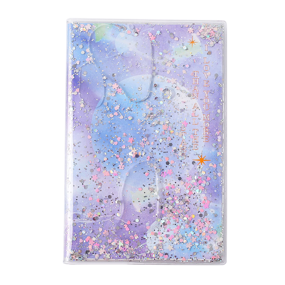 Quicksand Mermaid Notebook Sparkling Twinkling Beauty Notebook Pink Purple Blue Silver Gift For Girl Students Stationery