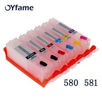цена на OYfame 6pcs PGI580 CLI581 Ink Cartridge With auto reset chip for Canon TS8150 TS8151 TS8152 TS8152 TS8251 Printer Cartridge