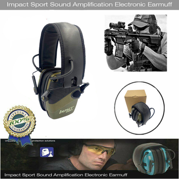 2021 Tactical Electronic Shooting Earmuff Anti-noise Headphone Sound Amplification Hearing Protection Headset Foldable Hot Sale 1