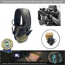 2021 táctica electrónica orejera para disparar Anti-ruido auriculares de sonido de amplificación de protección auditiva auricular plegable gran oferta