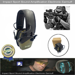 2021 Tactical Electronic Shooting Earmuff Anti-noise Headphone Sound Amplification Hearing Protection Headset Foldable Hot Sale