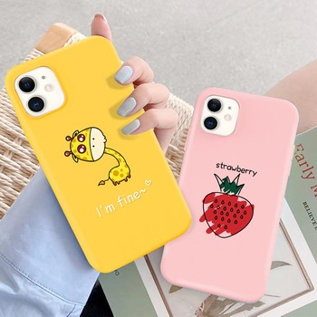moskado Cartoon Pig Cat Pattern Phone Case For iPhone 12 11 Pro Max X XR XS Max 6 7 8 7Plus Soft Silicone Cover Shockproof Cases image