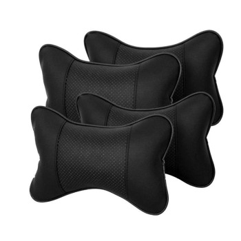 SPEORX RUIYYT Travel Car Auto Seat Head Neck Rest Leather Cushion Pad HeadRest Bone Car Seat Pillow Pads Seat Support image