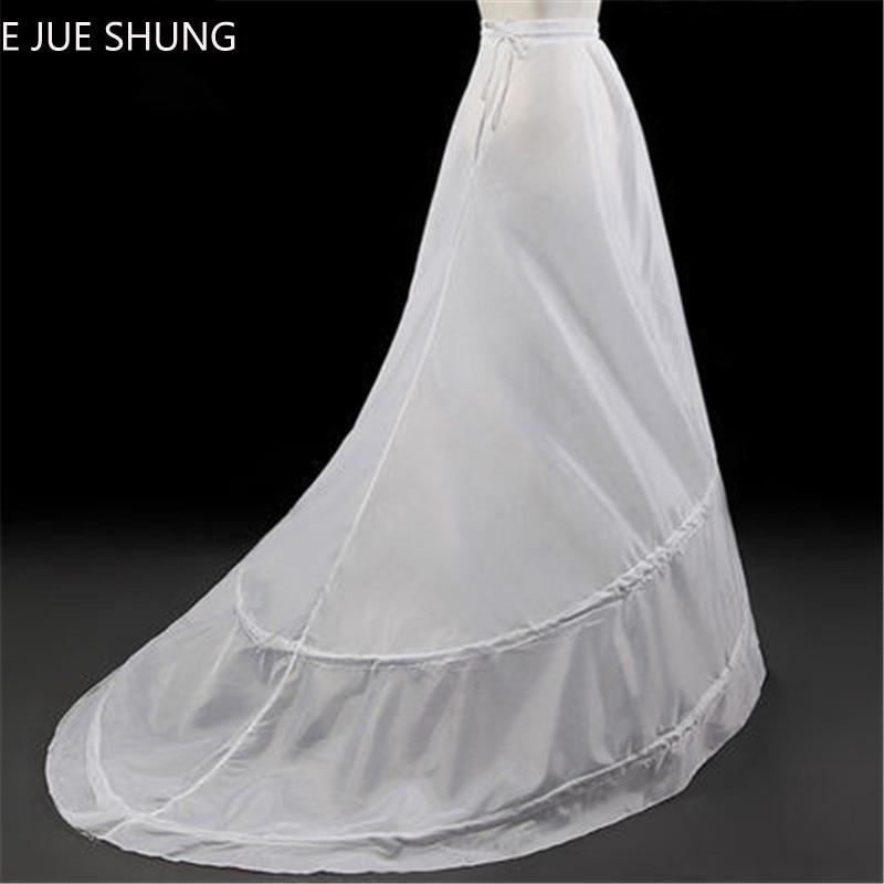 E JUE SHUNG 2 Hoops A-line Wedding Petticoat Crinoline Slip Underskirt For Wedding Dress Wedding Accessorie