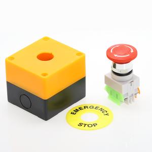 Image 4 - 1 قطعة البلاستيك قذيفة الأحمر تسجيل مفتاح بـزر دفع DPST الفطر الطوارئ زر التوقف التيار المتناوب 660 فولت 10A NO + NC LAY37 11ZS