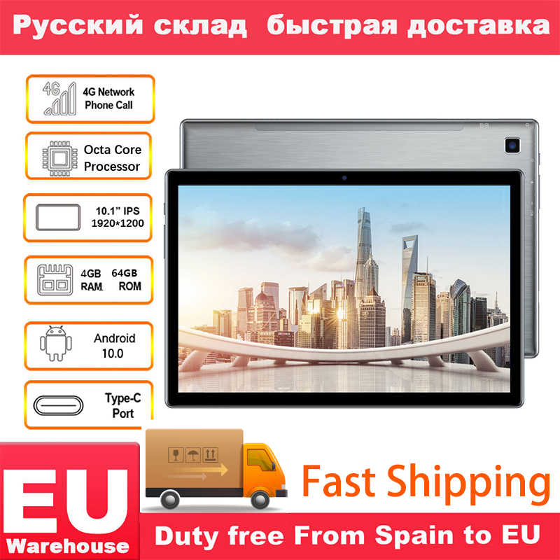 Teclast P20HD 4G Telefoontje 4Gb Ram 64 Rom Tablet Pc 1920X1200 Android 10 Octa Core 10.1 Inch Ips SC9863A Gps 6000Mah Tabletten