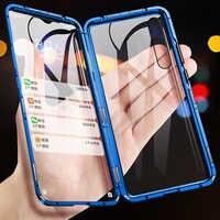 Absorption magnétique métal étuis pour samsung Galaxy A70 2019 téléphone couverture Double face verre 360 antichoc SamsungA70 Galaxy ya70