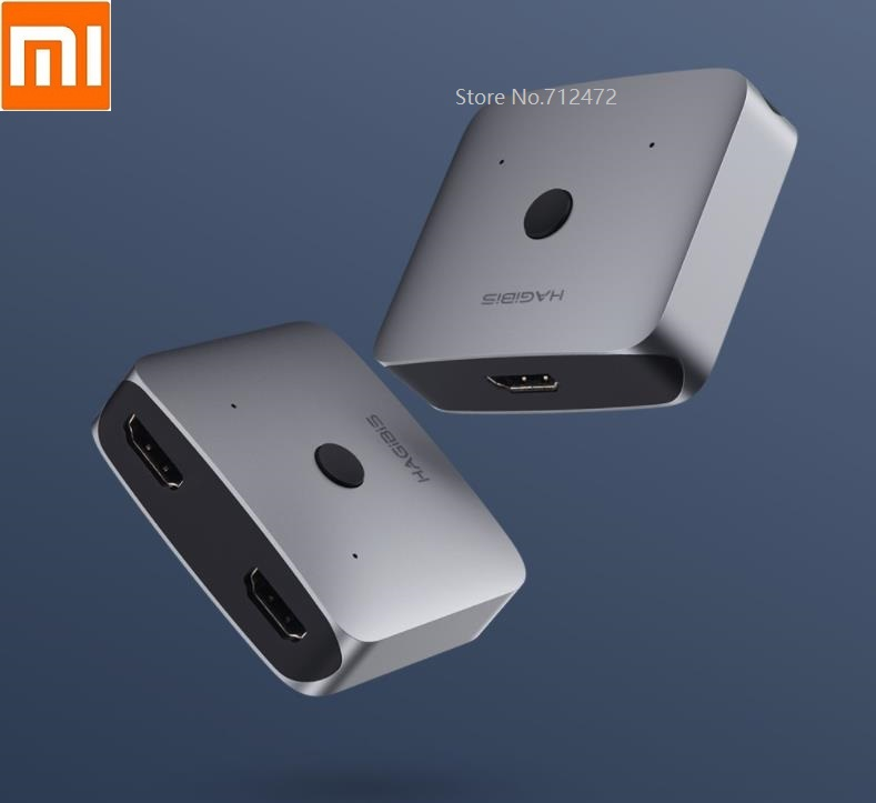Xiaomi Mijia Two-way HDMI Distribution Switcher Supports HD 4K HDMI Interface Equipment Aluminum Alloy Material Plug And Play