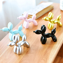 Resin Crafts Sculpture Gift Cute Small Balloon Dog Party Accessories Home Desktop Ornament Cake Dessert Decoration 9*3.5*7.5cm