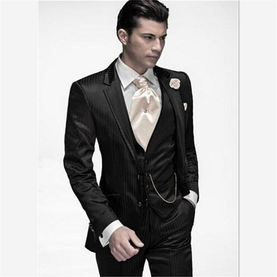 New Classic Men's Suit Smolking Noivo Terno Slim Fit Easculino Evening Suits For Men The Morning Groom Gap Lapel Best Man Mascul