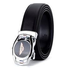 WOWTIGER High Quality Male Luxury Brand Automatic buckle black 3.5cm Cowhide Genuine