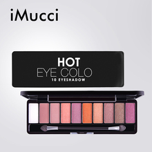 iMucci Women Courful Eyeshadow Palette Natural Eye Makeup Matte Glitter Waterproof Shimmer Set