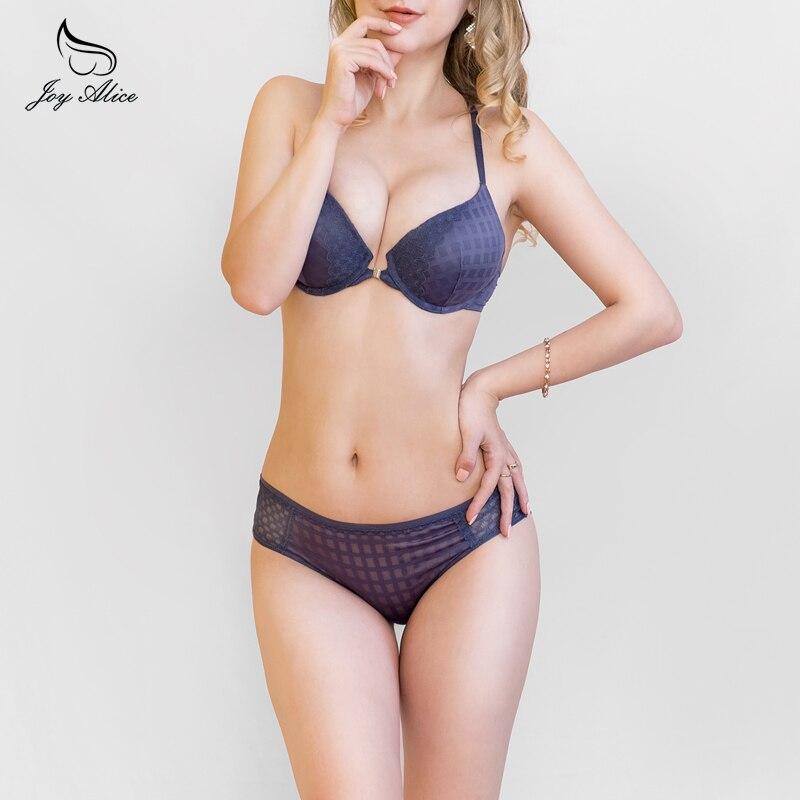 VS Brand Women Hot Seamless Bra Set 3/4 Cup Adjustable Push Up Vs Bra Lingerie Underwear Sets For Women Push Up Bra Set