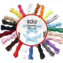 1 пара новых шнурков без шнурков плоские эластичные шнурки круглые металлические фиксирующие шнурки для ленивых шнурков 23 цвета шнурки для кроссовок для детей и взрослых