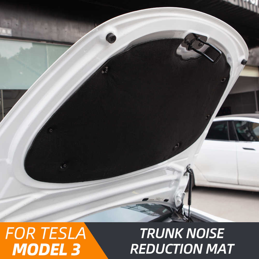 TEY 2021 Tesla Model 3 Accessories For Model3 Front Trunk Soundproof Cotton Sound Insulation Shock Plate Hood Protective Pad