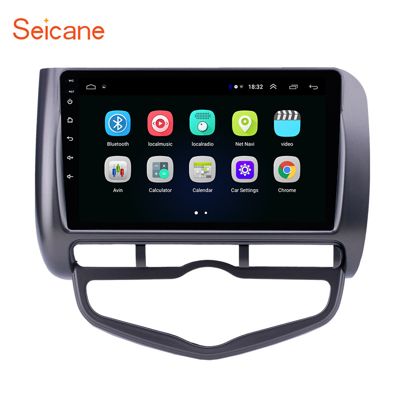 <font><b>Seicane</b></font> Android 8.1 Car Unit Radio GPS Navigation Player for 2006 <font><b>Honda</b></font> Jazz <font><b>City</b></font> Auto AC Right Hand Drive support Carplay OBD image