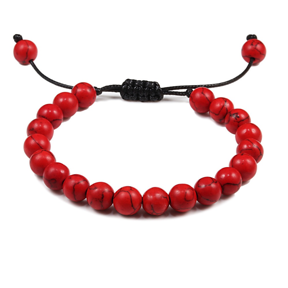 Red Crystal Stone Heart Adjustable Cord Bracelet ~ Great Gift Idea!