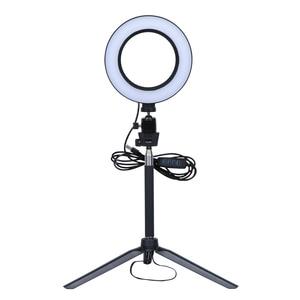 Image 4 - Video Light Three Modes Light LED Selfie Ring Light Dimmable LED Ring Lamp Photo Video Camera Phone Light Ring Light Fill Light