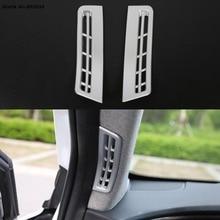 цена на Car Interior A Pillar window Anti-fog Air Outlet protection Sticker Frame Cover Trim For Hyundai Santa Fe 2019 2020
