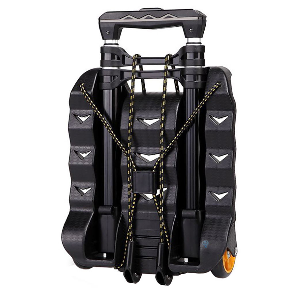 Office Collapsible Aluminum Alloy Pull Rod Hand Truck Storage Lightweight Wheels Travel Folding Luggage Cart Dolly Portable