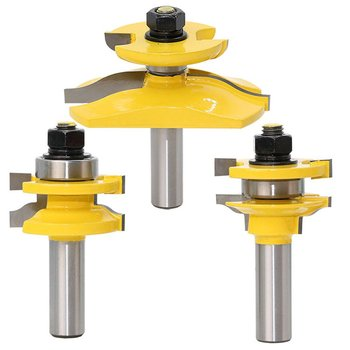3pcs 1/2 '' Shaft Rail & Stile Blade Cutter Panel Cabinet Router Bits Set Milling Power Tools by Knife Wood Cutter цена 2017