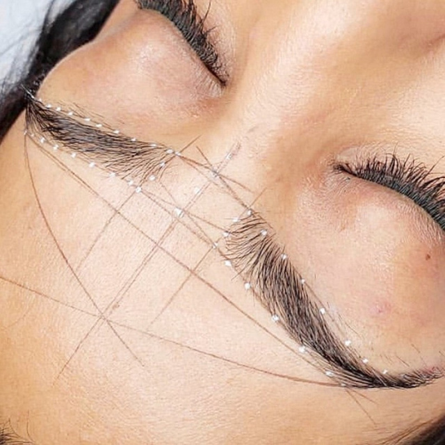 1 Box microblading mapping string line permanent makeup thread eyebrow tattoo pre Inked marker 2