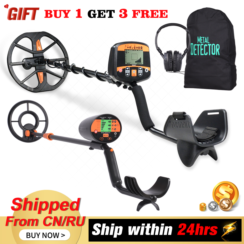 TX-960 Metal Detector Professional Underground Depth Scanner Search Finder Gold Detector Treasure Hunter Pinpointer (Gift MD4010