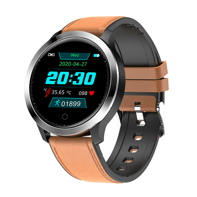 F68 Smart Watch Men Body Temperature Measurement Heart Rate Blood Pressure Health Monitoring Smart Clock Fitness Sports Watches