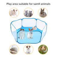 NEW Small Animals Breathable Folding Fence Portable Small Pet Cage Tent Playpen For Hamster Hedgehog Puppy Cat Rabbit Guinea Pig