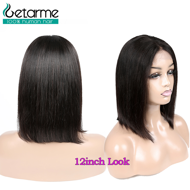Image 5 - 4x4 Closure Wig Peruvian Short Bob Wigs Lace Closure Human Hair Wigs For Black Women Straight Lace Wig Pre Plucked Non Remy Hair-in Lace Front Wigs from Hair Extensions & Wigs