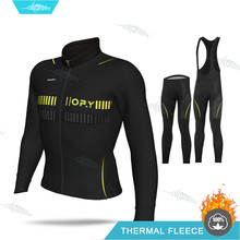 Ciclismo 2020 Cycling Clothing MTB Long Sleeve Jersey Set Aleing Winter Men Bike Uniform Thermal Fleece Jacket Triathlon Clothes(China)
