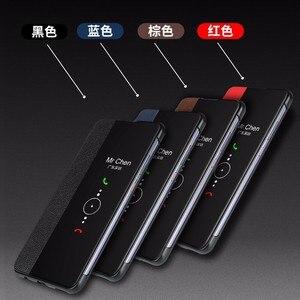 Image 3 - Чехол для Huawei P30 Pro, умный откидной Чехол с окошком для Huawei P20 P30 Mate 20 Mate 30 Pro, чехлы из натуральной кожи с функцией пробуждения
