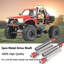 цена на Rc crawler 1:10 rc crawler 1/10 2Pcs rc crawler Front Rear Drive Shaft Drive Axle For 1/10 Rc Rock Crawler Car Axial Scx10 D90
